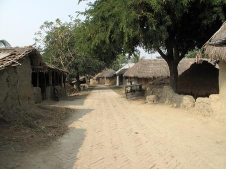 mud house: Bengali village Stock Photo