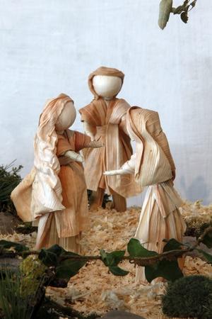 KARLOVAC, CROATIA - DEC 17: Visitation of the Blessed Virgin Mary, Exhibition of Christmas mangers on Dec 17, 2011 in Karlovac, Croatia