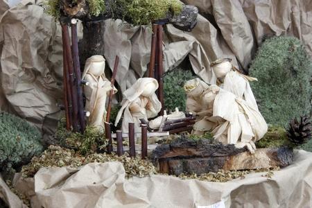 KARLOVAC, CROATIA - DEC 17: Exhibition of Christmas mangers on Dec 17, 2011 in Karlovac, Croatia