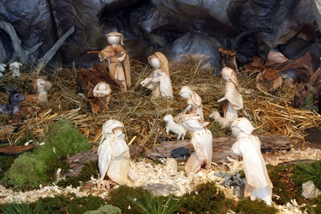 KARLOVAC, CROATIA - DEC 17: Nativity Scene, Exhibition of Christmas mangers on Dec 17, 2011 in Karlovac, Croatia