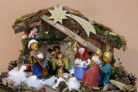 ZELINA, CROATIA - JAN 04: Nativity Scene, Exhibition of Christmas mangers on Jan 04, 2012 in Zelina, Croatia