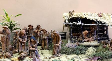 Zelina, Croacia - 04 de enero: Pesebre, Exposici�n de pesebres de Navidad el 04 de Ene de 2012 en Zelina, Croacia