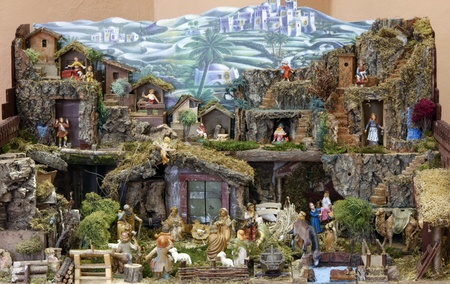 ZELINA, CROATIA - JAN 04: Nativity Scene, Exhibition of Christmas mangers on Jan 04, 2012 in Zelina, Croatia