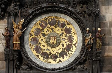 timekeeping: Famous medieval astronomical clock in Prague, Czech Republic