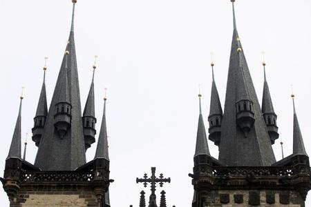 tyn: Church of Virgin Mary Before Tyn, Prague, Czech republic