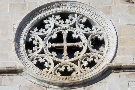 Rose Window, Church of Assumption of the Blessed Virgin Mary in Pag, Croatia  photo