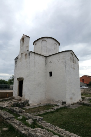 The smallest cathedral in the world, church of the Holy cross in Nin, Croatia, built in the 9th century Stock Photo - 12567514