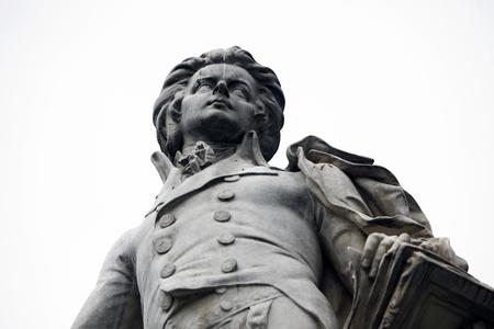 Standbeeld van Mozart in Wenen, Oostenrijk