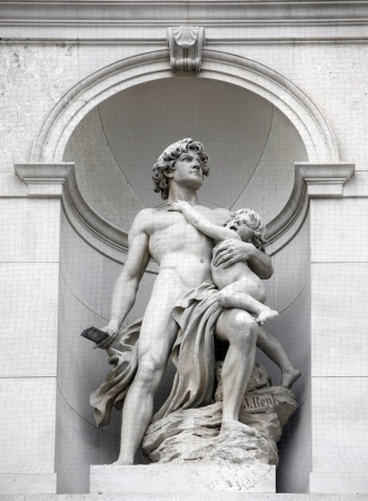 allegory: Burgtheater, Vienna, statue shows an allegory of heroism