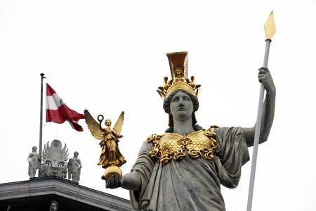 pallas: Pallas Athene in front of Austrian parliament Editorial