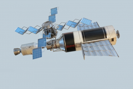 Model of orbital space station Skylab photo
