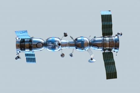 soyuz: Model of connected space ships Soyuz 4 and Soyuz 5
