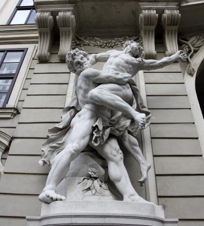 hofburg: Hercules fighting Antaeus, Hofburg, Vienna