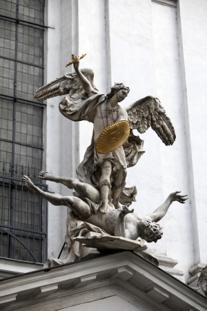 saint michael: Statue of Saint Michael  Stock Photo