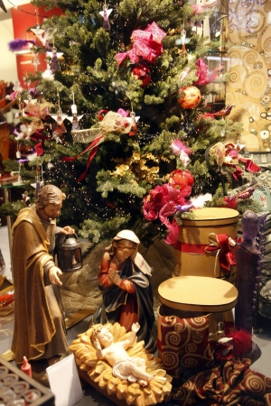 Nativity Scene From Vienna Shop Stock Photo   14963075