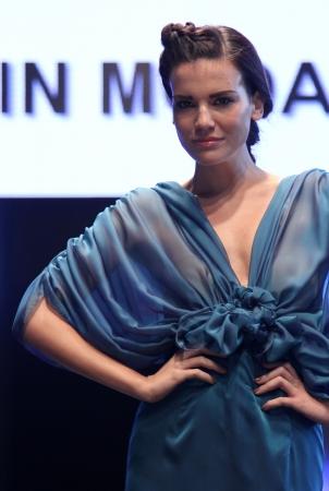 ZAGREB, CROATIA - OCTOBER 27: Fashion model wears wedding dress made by In Moda on Wedding days show, October 27, 2012 in Zagreb, Croatia.