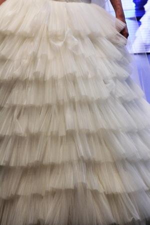 royal wedding: ZAGREB, CROATIA - OCTOBER 27: Fashion model wears wedding dress made by Royal Bride on Wedding days show, October 27, 2012 in Zagreb, Croatia. Editorial