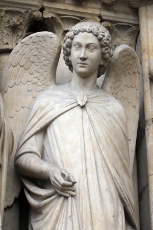 Angel, Notre Dame Cathedral, Paris, Portal of the Virgin photo