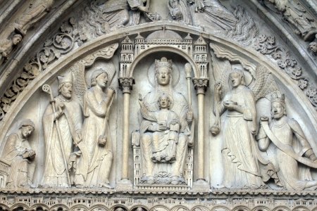 anne: Virgin and Child on a throne, Notre Dame Cathedral, Paris, Portal of St. Anne