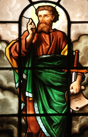 Saint Paul, stained glass Stock Photo - 17402988
