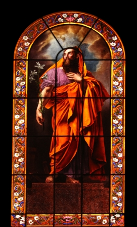Saint Joseph, stained glass Stock Photo - 17402992