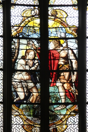 Baptism of the Lord , stained glass Stock Photo - 17403001