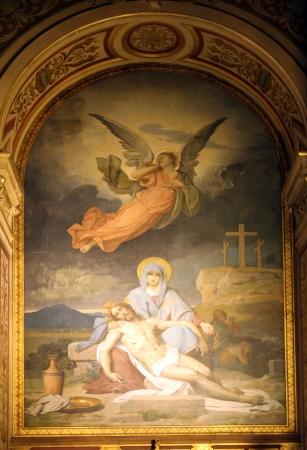 our lady of sorrows: Pieta, Church of the Holy Trinity, Paris