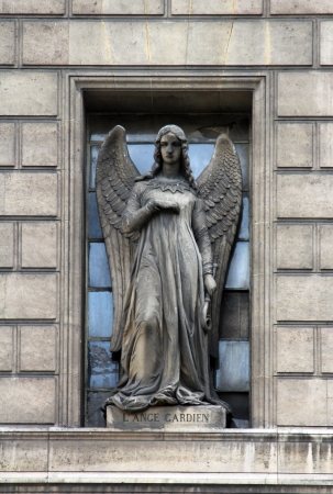 protection of the bible: Guardian angel, Madeleine church in Paris