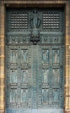Twelve apostles, door of Saint Vincent de Paul church, Paris Stock Photo - 17596939