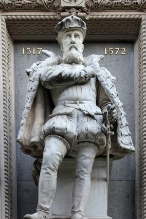 gaspard: Monument to Gaspard de Coligny Stock Photo