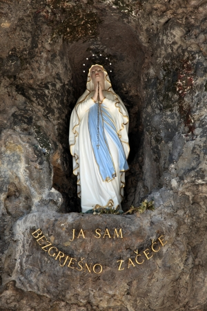 of our lady: The statue of Our Lady of Lourdes in Croatian shrine Vepric