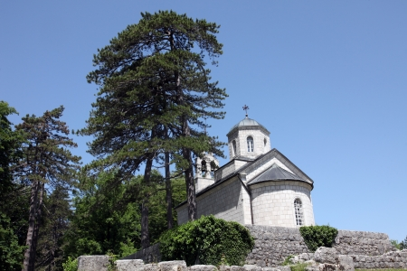 serbia and montenegro: Orthodox court church built 1450 in Cetinje, the old capital of Montenegro Stock Photo