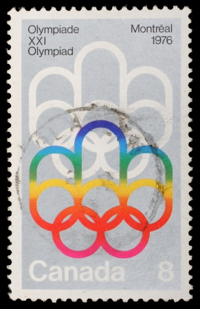 canada stamp: CANADA - CIRCA 1976: stamp printed by Canada, shows Montreal Olympic Games, circa 1976