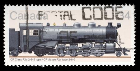 canada stamp: CANADA - CIRCA 1986: stamp printed by Canada, shows locomotive, circa 1986