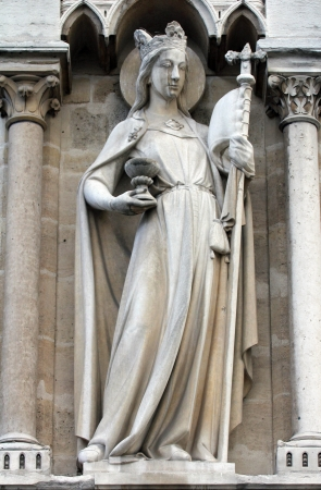 Allegories, The Church, Notre Dame Cathedral, Paris photo