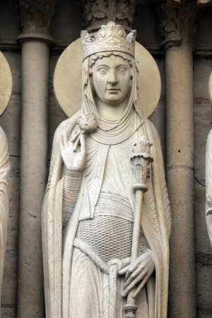 queen of sheba: Queen of Sheba, Notre Dame Cathedral, Paris, Portal of St  Anne