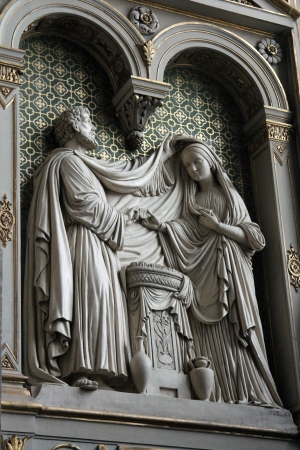 homily: Engagement of Virgin Mary, St  Eustache church, Paris