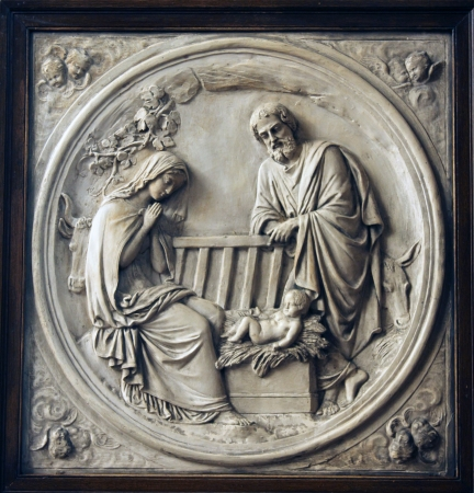 Nativity Scene , Saint Etienne du Mont Church, Paris Stock Photo - 20992077