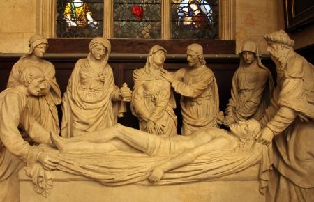 lamentation: Compianto di Cristo, Saint Etienne du Mont Chiesa, Parigi