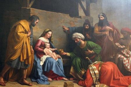 キリスト降誕、マギ、サン テティエンヌ デュ モン教会パリのあこがれ 報道画像