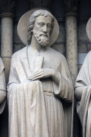 Saint Andrew, Notre Dame Cathedral, Paris, Last Judgment Portal