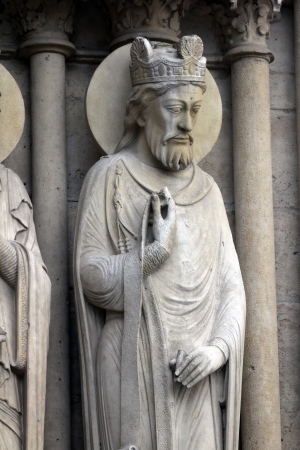 King, Notre Dame Cathedral, Paris, Portal of St  Anne