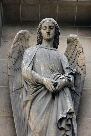 gabriel: Archangel Gabriel, Madeleine church in Paris Stock Photo