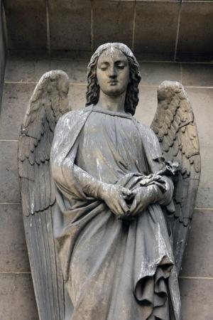 archangel: Archangel Gabriel, Madeleine church in Paris Stock Photo