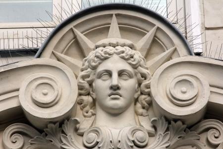 architectural feature: Paris, France - old apartment building  Architecture detail
