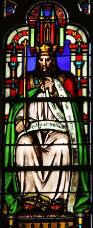Manasseh, stained glass window from Saint Germain-l Auxerrois church, Paris Stock Photo - 21106507