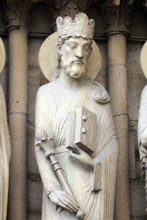 King Solomon, Notre Dame Cathedral, Paris, Portal of St  Anne photo