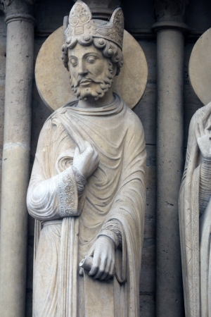 King, Notre Dame Cathedral, Paris, Portal of St  Anne photo