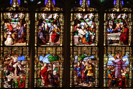 Passion and Resurrection of Christ, stained glass, Church of St  Gervais and St  Protais, Paris