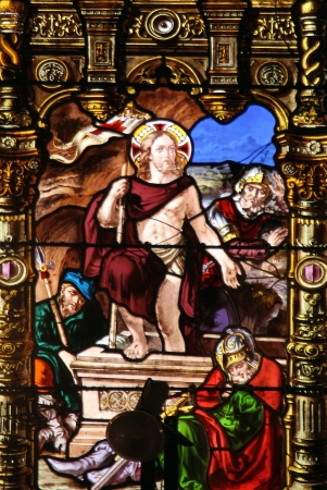 Resurrection of Christ, stained glass, Church of St  Gervais and St  Protais, Paris